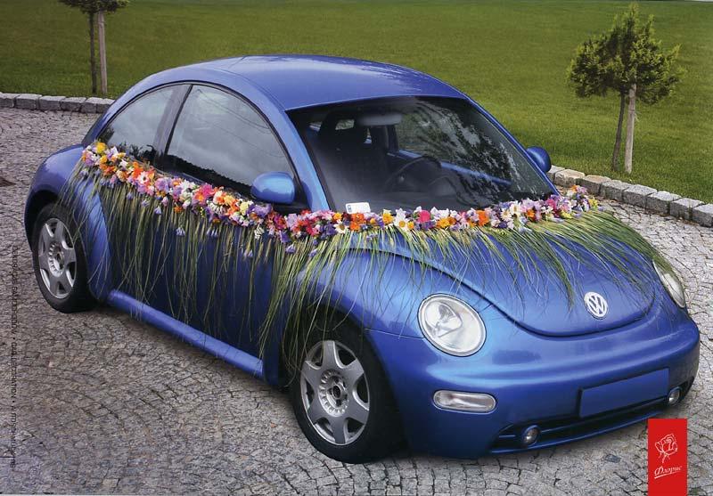 Украшение автомобилей цветами